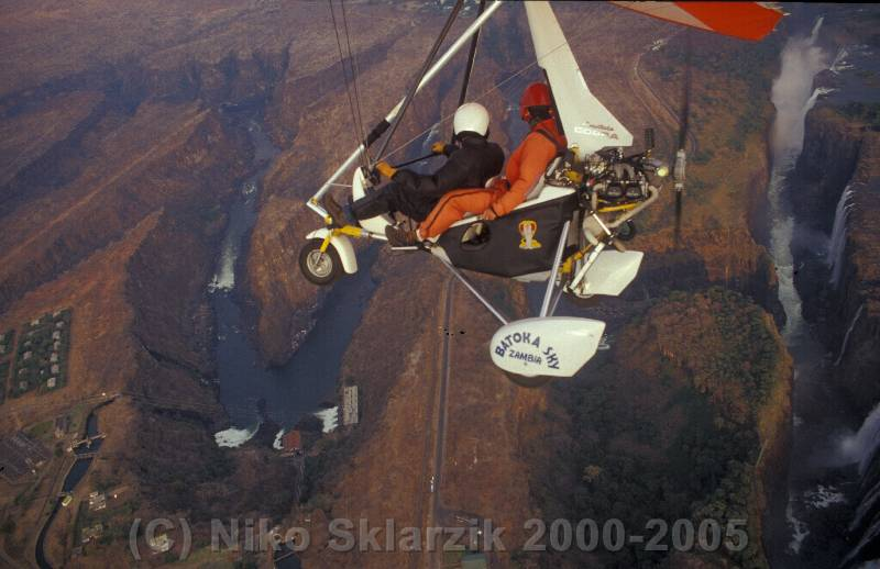Ultralight over Vic Falls